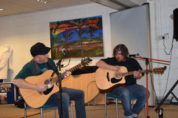 Martin Brennan (right) seen at GTT Music Night 2016 in folk duo Rum Doodle