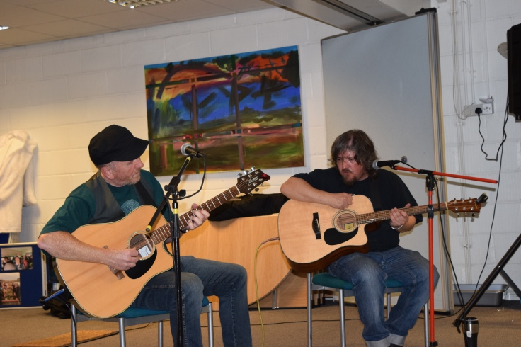 Martin Brennan (right) seen at GTT Music Night 2016 in folk duo Rum Doodle