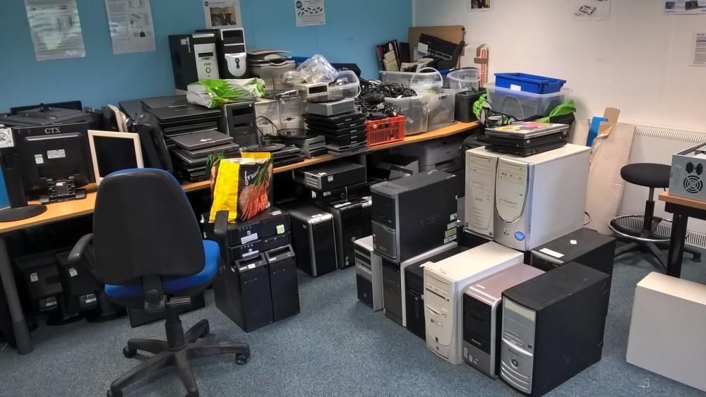 Generous equipment donations stored at the GTT Lab